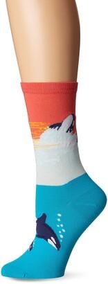 K. Bell Women's Playful Sealife Novelty Fashion Crew Socks