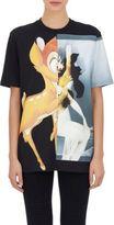 Givenchy Women's Bambi & Female-Form Oversized T-Shirt-BLACK