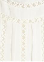Oscar de la Renta Embroidered silk-georgette blouse