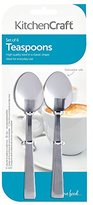 Kitchen Craft Deluxe Stainless Steel Teaspoons- set of six