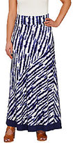 As Is LOGO by Lori Goldstein Pull-On Printed Knit Maxi Skirt