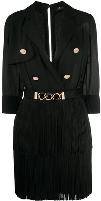 Elisabetta Franchi Fringed Mini Dress