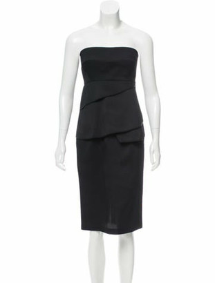 Zero Maria Cornejo Lykke Virgin Wool Dress w/ Tags Black