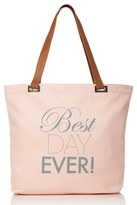 Dessy Collection 'Best Day Ever' Tote - White
