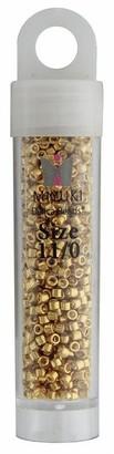 John Bead Corporation John Bead Miyuki Delica 11/0 Rd Galv Yellow Gold D - Medium