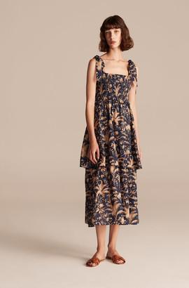 Rebecca Taylor La Vie Talita Trellis Smocked Tank Dress