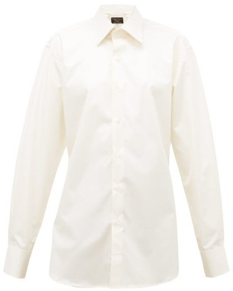 Emma Willis Pluto Boyfriend-fit Cotton-twill Shirt - Cream
