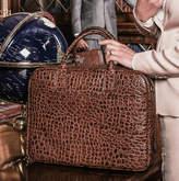 Maxwell Scott Bags Luxury Leather Soft Briefcase 'Calvino Croco'