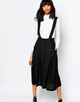 Monki Pinafore Midi Skirt