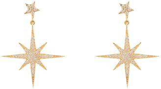 Petite Star Burst Drop Earring Gold