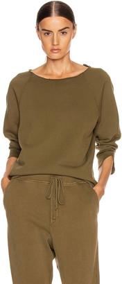 Nili Lotan Luka Scoop Neck Sweatshirt in Army Green | FWRD