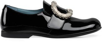 Gucci Children's loafer with engraved buckle