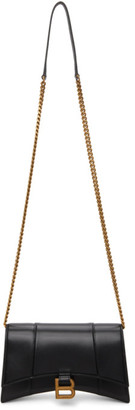 Balenciaga Black Shiny Hourglass Chain Bag