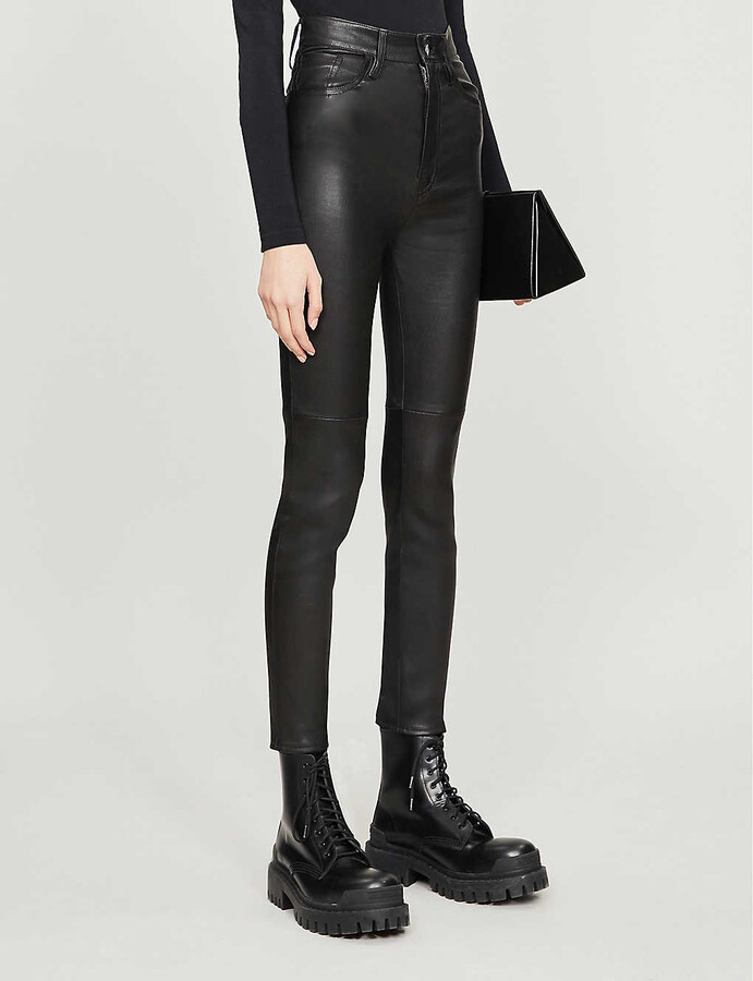 Thumbnail for your product : Jitrois Skinny high-rise leather trousers