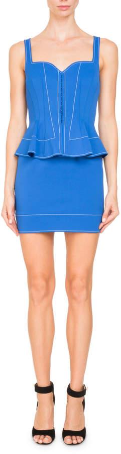 Givenchy Sleeveless Sweetheart-Neck Peplum Mini Cocktail Dress