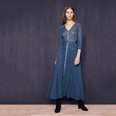 Maje Long dress belted at the waist