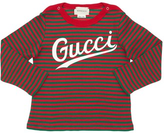 Gucci Stripes Cotton Jersey T-shirt