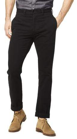 Todd Snyder Japanese Selvedge Chino Officer Pant in Black