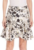 A.L.C. Brien Silk Blend Floral Skirt
