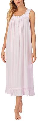 Eileen West Sleeveless Ballet Nightgown (Pink Print) Women's Pajama