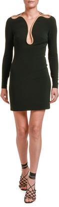 Stella McCartney Gold Chain Trim Mesh Top Mini Dress