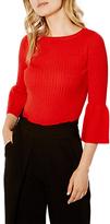 Karen Millen Fluted Sleeve Jumper, Red