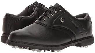 Foot Joy FootJoy Originals Cleated Plain Toe Twin Saddle (White/Brown/Black) Men's Golf Shoes
