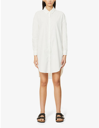 James Perse Collared cotton mini shirt dress