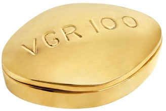 Jonathan Adler Viagra Polished Brass Pill Box