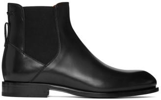 Ermenegildo Zegna Black Stitch Chelsea Boots