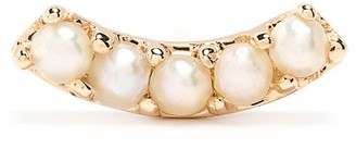 Maria Black 14kt yellow gold pearl Courbe stud earring
