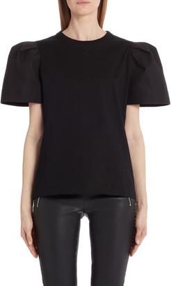 Alexander McQueen Pleated Puff Sleeve Top