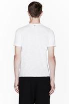 Neil Barrett White Leather Pocket Crewneck T-Shirt