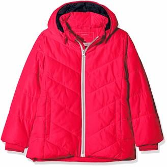 Name It Baby Girls' Nmfmil Puffer Jacket Camp