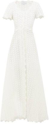Luisa Beccaria Cotton-blend Sangallo-lace Maxi Dress - Womens - White