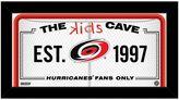 "Steiner Sports Carolina Hurricanes 10"" x 20"" Kids Cave Sign"
