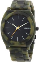 Nixon Men's Time Teller A3271428 Silicone Quartz Watch