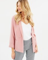 Dorothy Perkins Soft Double Breasted Throw On Blazer