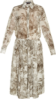 Rochas Elephant-print cotton-voile midi shirtdress