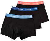 Calvin Klein Underwear Cotton Stretch 3 Pack Trunk Black