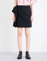 Maison Margiela Draped-side bonded twill skirt