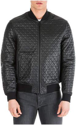 Emporio Armani Pool Leather Jackets