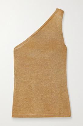 Missoni One-shoulder Metallic Crochet-knit Top - Yellow