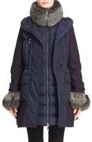 Moncler Women's 'Elestoria' Two-Piece Down Puffer Coat With Genuine Fox Fur Trim