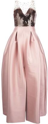 Sachin + Babi Elle sequin bodice gown