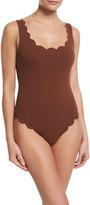 Marysia Swim Palm Springs Scalloped One-Piece Swimsuit, Kava