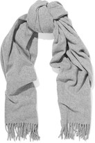 Acne Studios Canada Fringed Wool Scarf - Gray
