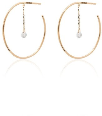 PERSÉE 18kt gold Open Creole Circle Me diamond earrings