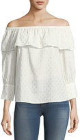 Collective Concepts Off-the-Shoulder Cotton-Blend Blouse