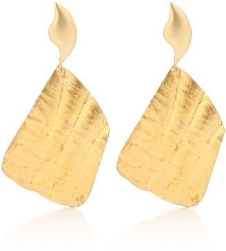 PEET DULLAERT Vena 24kt gold-plated and faux pearl earrings